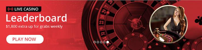 BetOnline - Live Casino Leaderboard