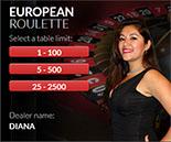 BetOnline live dealer roulette