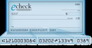 eCheck Deposit Process